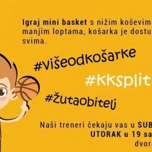 Košarkaški klub Split poziva najmlađe da budu dio žute obitelji